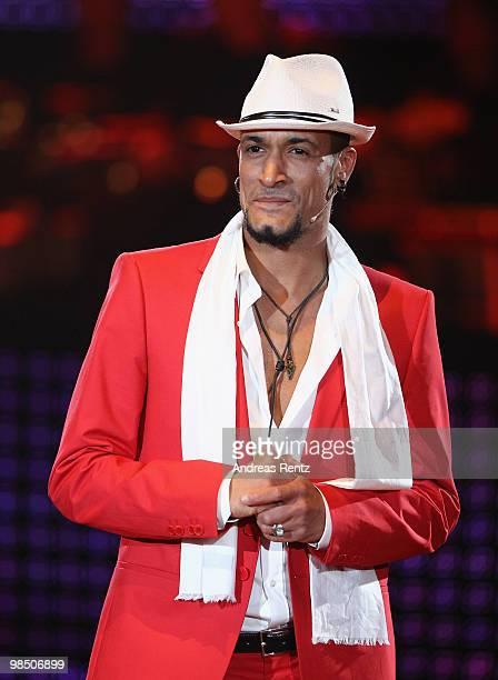 Singer Mark Medlock performs during the 'Let's Dance' TV show at Studios Adlershof on April 16, 2010 in Berlin, Germany.
