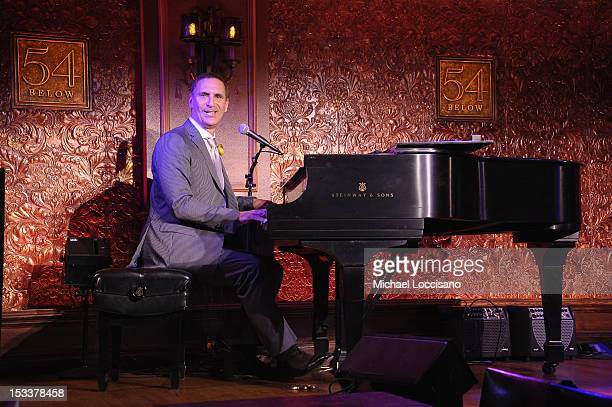 Singer Mark Nadler attends the press preview at 54 Below on October 4 2012 in New York City