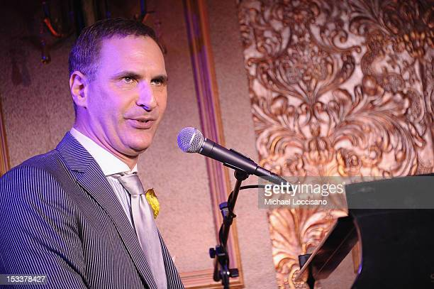 Singer Mark Nadler performs during the press preview at 54 Below on October 4 2012 in New York City