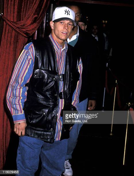 Singer Mark Wahlberg attends Grace Jones' 45th Birthday Party on May 20 1993 at Le Bat Bar in New York City