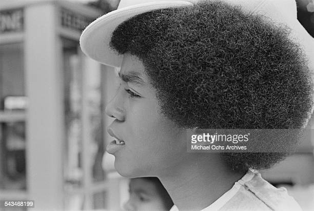 Singer Marlon Jackson of American pop group The Jackson 5 at ABCTV studios California 9th July 1971 The Jacksons are fiming their ABC TV special...