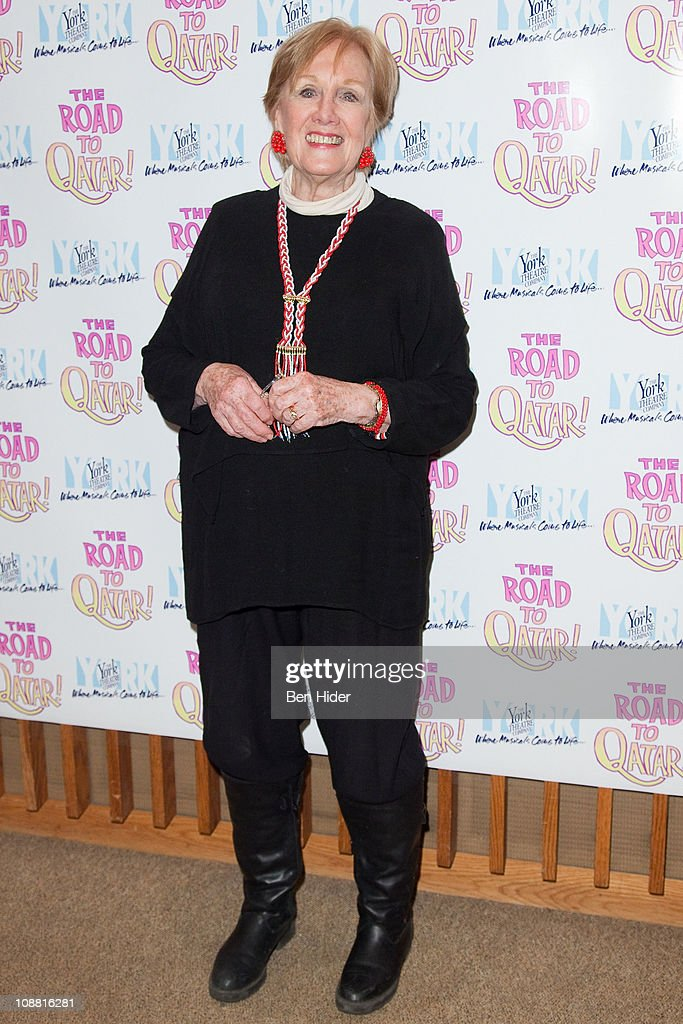 Singer Marni Nixon attends the Off-Broadway opening night of 'The Road to Qatar' at The York Theatre at Saint Peter's on February 3, 2011 in New York City.