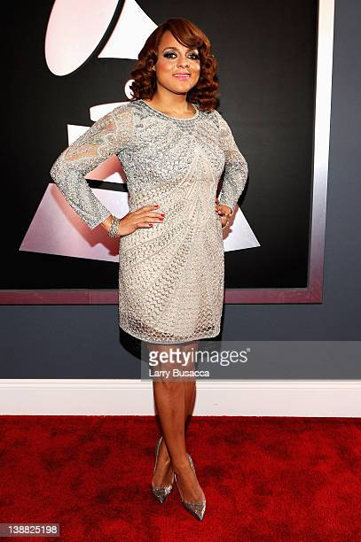 Singer Marsha Ambrosius arrives at the 54th Annual GRAMMY Awards held at Staples Center on February 12 2012 in Los Angeles California