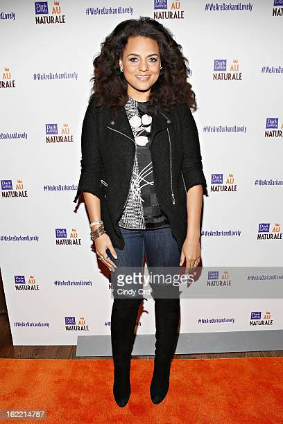 """Singer Marsha Ambrosius attends the Dark and Lovely """"Au Naturale"""" and """"Curl Power"""" Launch Party at Arena on February 20, 2013 in New York City."""