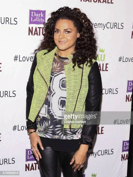 Singer Marsha Ambrosius attends the Dark and Lovely Au Naturale Anti-Breakage launch event on February 27, 2014 in New York City.