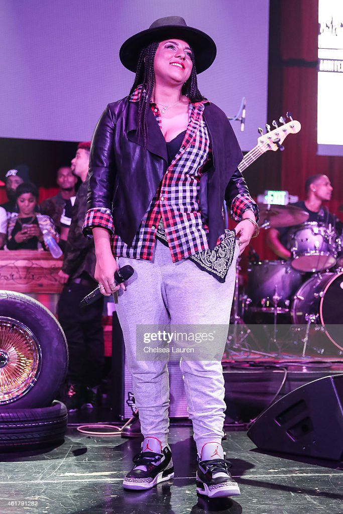 Singer Marsha Ambrosius performs at 'The Documentary' 10th anniversary party and concert on January 18, 2015 in Los Angeles, California.
