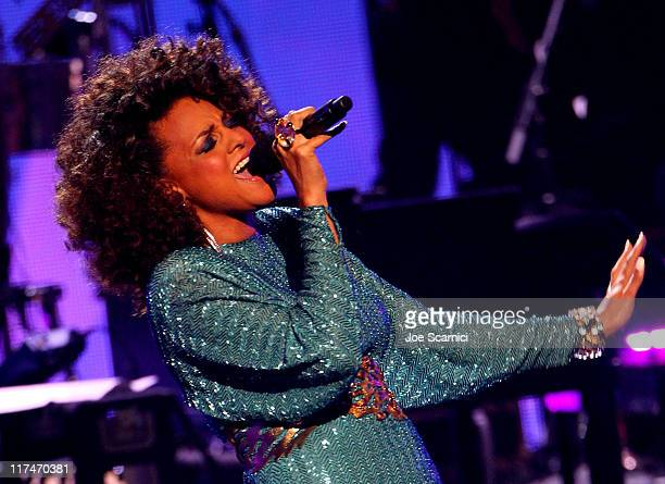 Singer Marsha Ambrosius performs onstage at the BET Awards '11 held at The Shrine Auditorium on June 26, 2011 in Los Angeles, California.