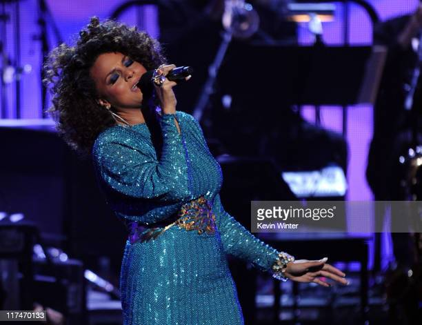 Singer Marsha Ambrosius performs onstage during the BET Awards '11 held at the Shrine Auditorium on June 26, 2011 in Los Angeles, California.