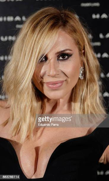 Singer Marta Sanchez attends the Hannibal Laguna 30th anniversary Gala Dinner at the Santo Mauro hotel on November 30 2017 in Madrid Spain