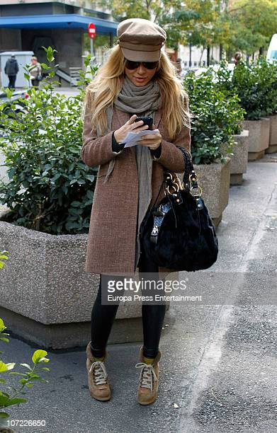 Singer Marta Sanchez is seen sighting on December 1 2010 in Madrid Spain