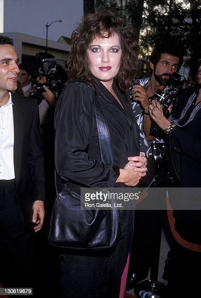 Singer Martha Davis attends the Purple Rain Hollywood Premiere on July 26 1984 at Mann's Chinese Theatre in Hollywood California