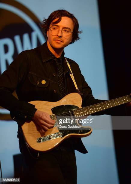 Singer Martin Courtney of the band Real Estate performs onstage during the KCRW Radio Day Stage event at The Austin Convention Center on March 15...