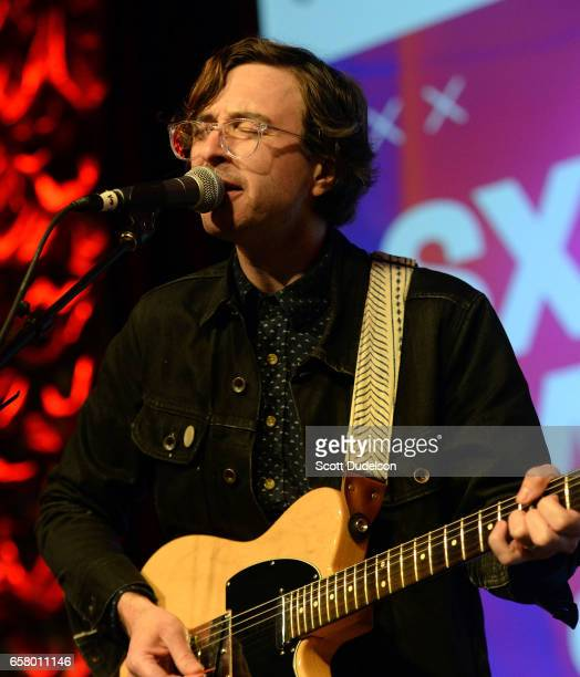 Singer Martin Courtney of the band Real Estate performs onstage during the KCRW Radio Day Stage showcase at the Austin Convention Center on March 15...