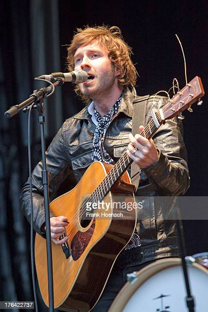 Singer Martin Kelly of the band Martin and James performs live in support of Glen Hansard during a concert at the Zitadelle Spandau on August 12 2013...