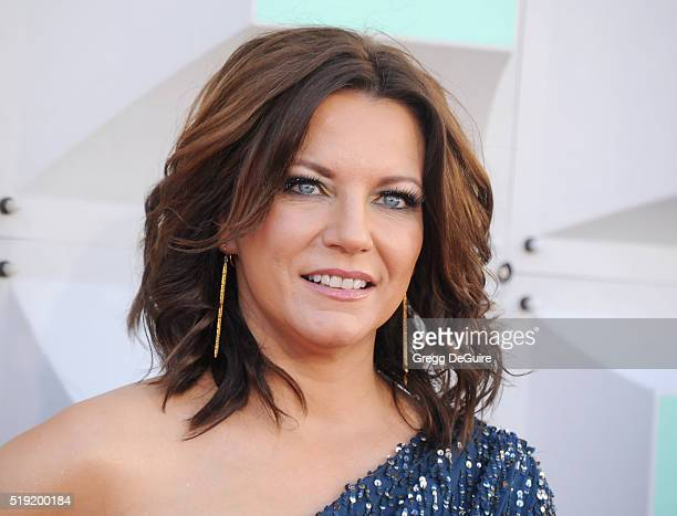 Singer Martina McBride arrives at the 51st Academy Of Country Music Awards at MGM Grand Garden Arena on April 3 2016 in Las Vegas Nevada