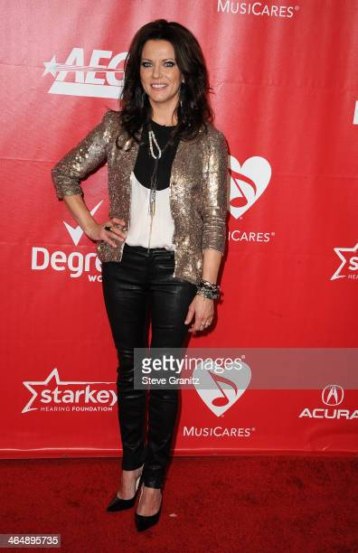 Singer Martina McBride attends 2014 MusiCares Person Of The Year Honoring Carole King at Los Angeles Convention Center on January 24 2014 in Los...