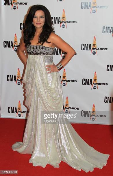 Singer Martina McBride attends the 43rd Annual CMA Awards at the Sommet Center on November 11, 2009 in Nashville, Tennessee.