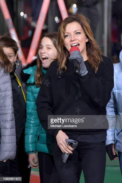 Singer Martina McBride performs during the 92nd Annual Macy's Thanksgiving Day Parade day two of rehearsals on November 20 2018 in New York City