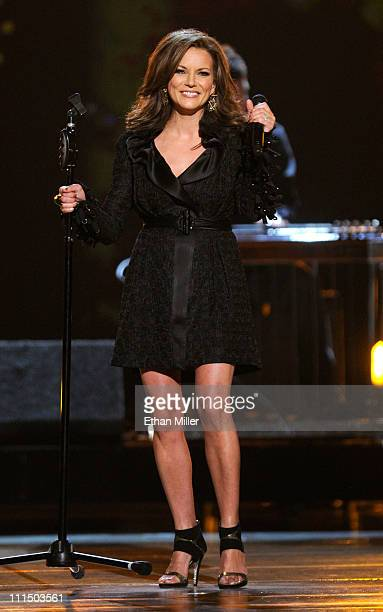 Singer Martina McBride performs onstage at the 46th Annual Academy of Country Music Awards held at the MGM Grand Garden Arena on April 3 2011 in Las...