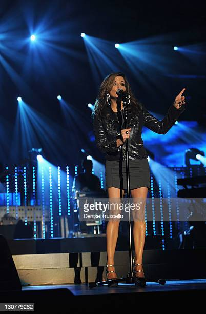 Singer Martina McBride performs onstage during the Andre Agassi Foundation for Education's 16th Grand Slam for Children benefit concert at the Wynn...