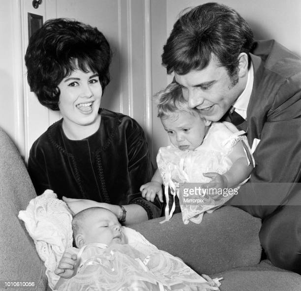 Singer Marty Wilde and his wife Joyce at home in Chiswick after the christening of their children Kim aged one and Ricky six weeks 17th December 1961