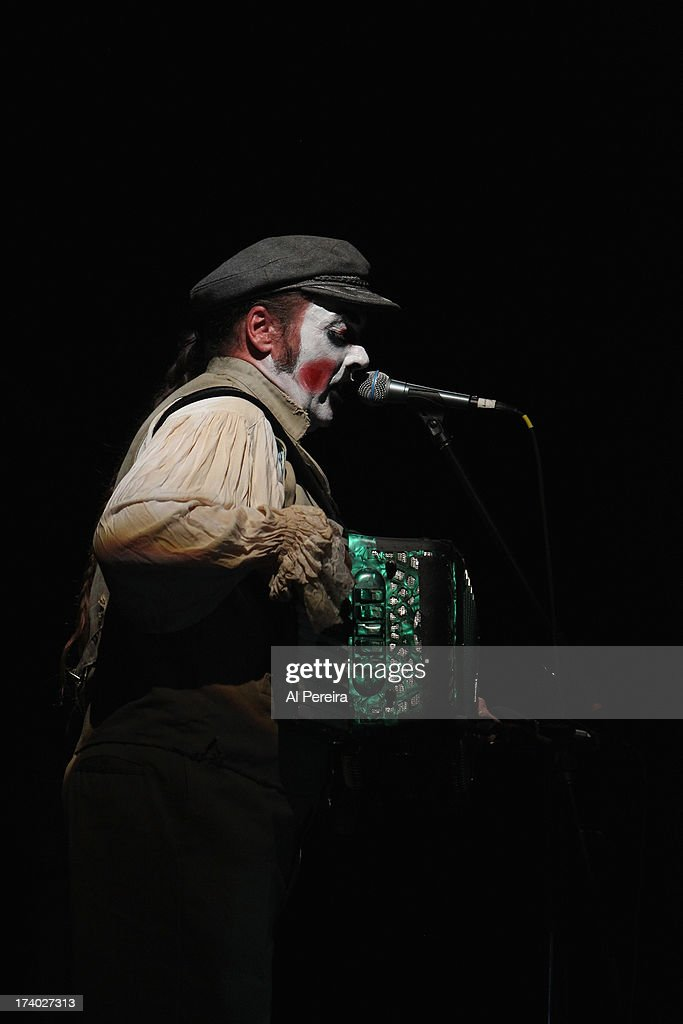 Singer Martyn Jacques of The Tiger Lillies performs 'Rime of the Ancient Mariner' during Celebrate Brooklyn! at Prospect Park Bandshell on July 18, 2013 in the Brooklyn borough of New York City. The Tiger Lillies stage set included screens and moving projections.