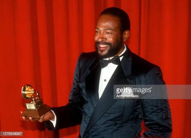 Singer Marvin Gaye at Grammy Award 1983