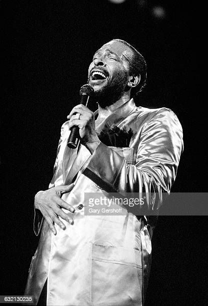 Singer Marvin Gaye performs at Radio City Music Hall in New York City New York May 19 1983