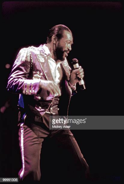 Singer Marvin Gaye performs at The Moon in 1983 in Tallahassee Florida