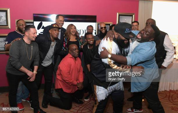 Singer Marvin Sapp singer Bryan Popin singer Anthony Brown Stellar Awards Founder/Central City Productions Chairman and CEO Don Jackson singer Erica...