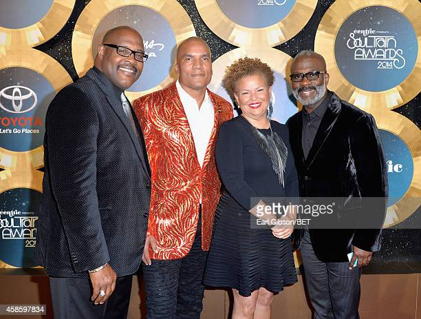 Singer Marvin Winans of 3 Winans Brothers Paxton Baker Executive Vice President and General Manager of Centric Debra Lee Chairman and CEO of BET and...