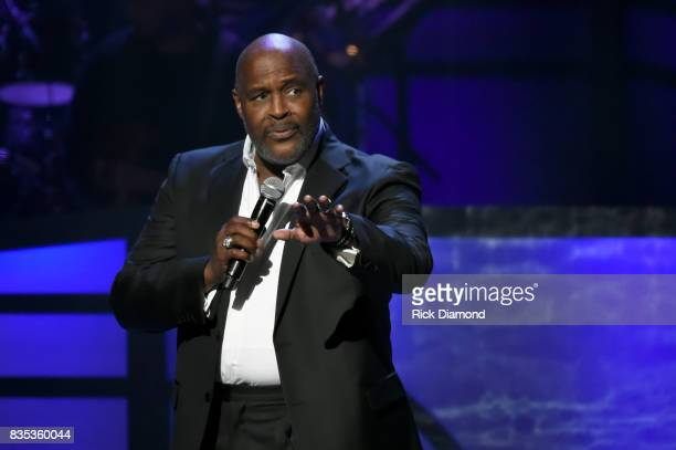 Singer Marvin Winans performs onstage at the 2017 Black Music Honors at Tennessee Performing Arts Center on August 18 2017 in Nashville Tennessee