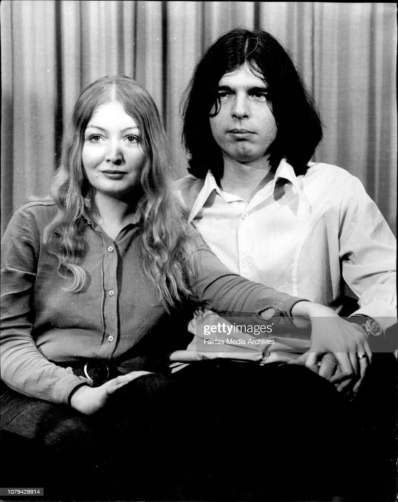 Singer Mary Hopkin with her husband at Mascot airport after their arrival this morning. : News Photo