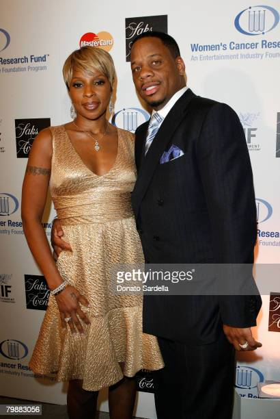 Singer Mary J. Blige and husband Kendu Isaacs arrive at the Saks Fifth Avenue's Unforgettable Evening benefiting Entertainment Industry Foundation's...