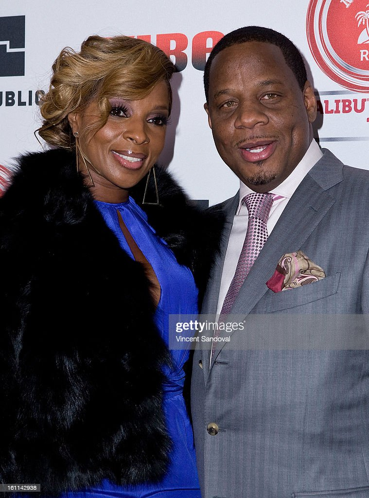 Singer Mary J. Blige and Kendu Isaacs attend VIBE Magazine's 20th anniversary celebration with inaugural impact awards - Arrivals at Sunset Tower on February 8, 2013 in West Hollywood, California.