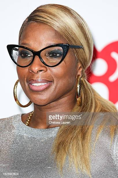 Singer Mary J Blige arrives at iHeartRadio Music Festival press room at MGM Grand Garden Arena on September 22 2012 in Las Vegas Nevada