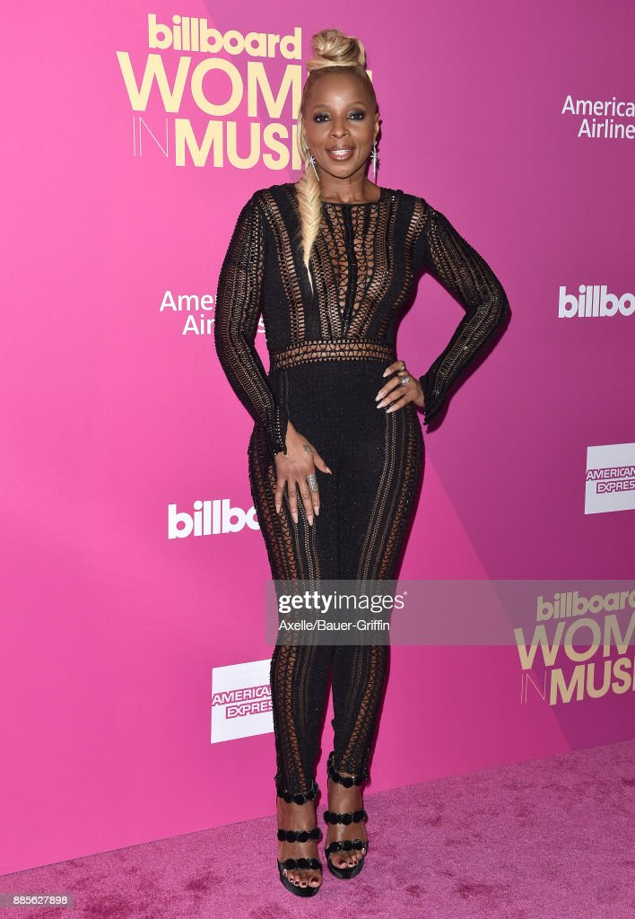 Singer Mary J. Blige arrives at the Billboard Women In Music 2017 at The Ray Dolby Ballroom at Hollywood & Highland Center on November 30, 2017 in Hollywood, California.