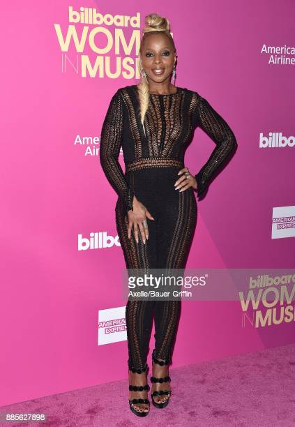 Singer Mary J Blige arrives at the Billboard Women In Music 2017 at The Ray Dolby Ballroom at Hollywood Highland Center on November 30 2017 in...
