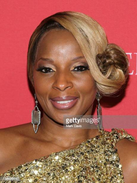 Singer Mary J Blige arrives at the RED PreGrammys Party with Mary J Blige held at Avalon on February 9 2012 in Hollywood California Photo by Mark...