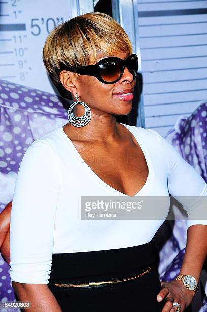 Singer Mary J Blige attends a screening of Tyler Perry's Madea Goes to Jail at the AMC Loews Lincoln Center on February 18 2009 in New York City