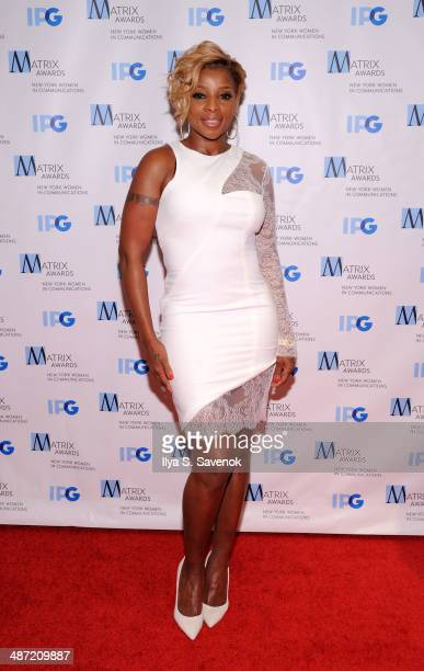Singer Mary J Blige attends the 2014 Matrix Awards at The Waldorf=Astoria on April 28 2014 in New York City