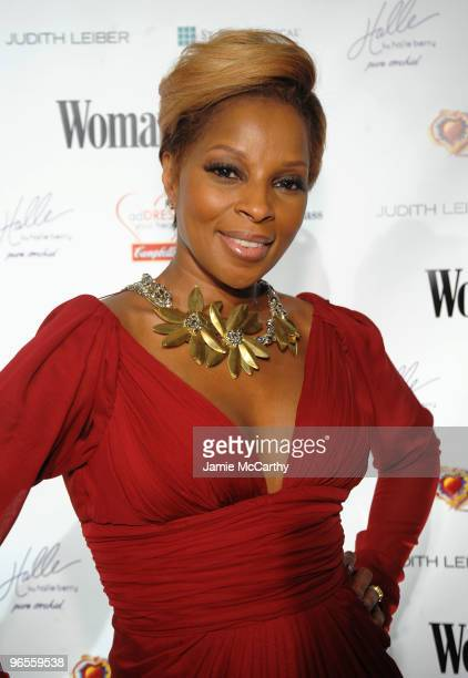 Singer Mary J Blige attends the 7th Annual Red Dress Awards presented by Woman's Day at Jazz at Lincoln Center on February 10 2010 in New York City