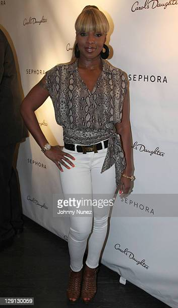 Singer Mary J Blige attends the Carol's Daughter Spokesbeauty Monoi Repairing Collection launch at Sephora on May 24 2011 in New York City