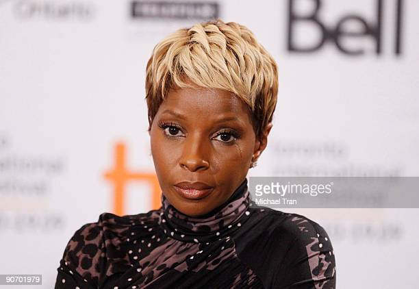 Singer Mary J Blige attends the 'Precious' press conference during the 2009 Toronto International Film Festival held at the Four Seasons Hotel on...