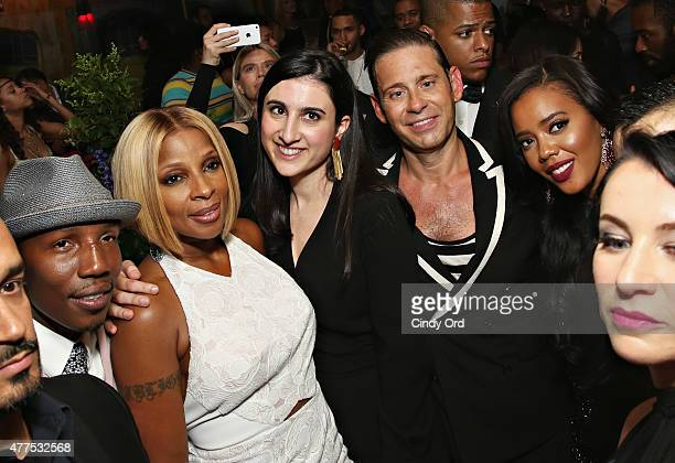 Singer Mary J Blige Derek Anderson and Angela Simmons attend the Casa Reale Fine Jewelry Launch at The Box on June 17 2015 in New York City