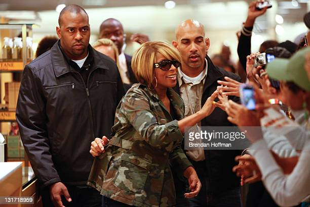 Singer Mary J Blige launches her new line of eyewear Melodies by MJB at Nordstrom on October 6 2010 in Towson MD