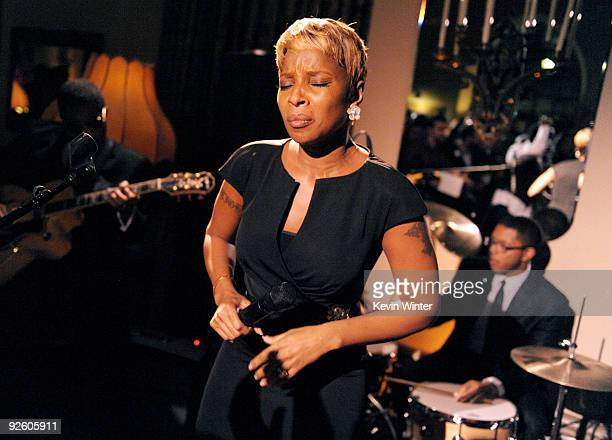 Singer Mary J Blige performs at the afterparty for AFI Fest 2009 and Lionsgate's 'Precious Based on the Novel 'PUSH' by Sapphire' at the Chateau...