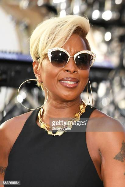 Singer Mary J Blige performs on NBC's 'Today' at Rockefeller Plaza on May 19 2017 in New York City