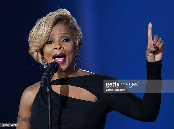 Singer Mary J Blige performs on stage during the 20th annual Nobel Peace Prize Concert at the Oslo Spektrum arena on December 11 2013 in Oslo Norway