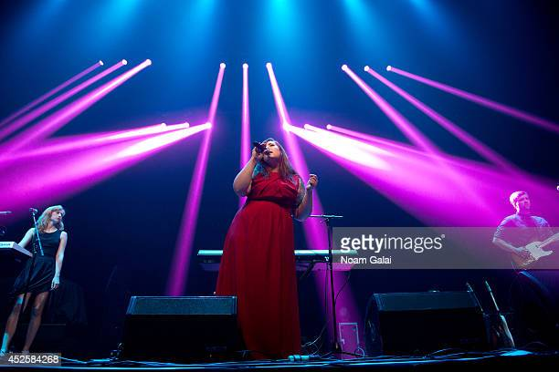 Singer Mary Lambert performs at R Baby Foundation's Rockin' To Save Babies' Lives Benefit Concert Presented By Z100 at Hammerstein Ballroom on July...